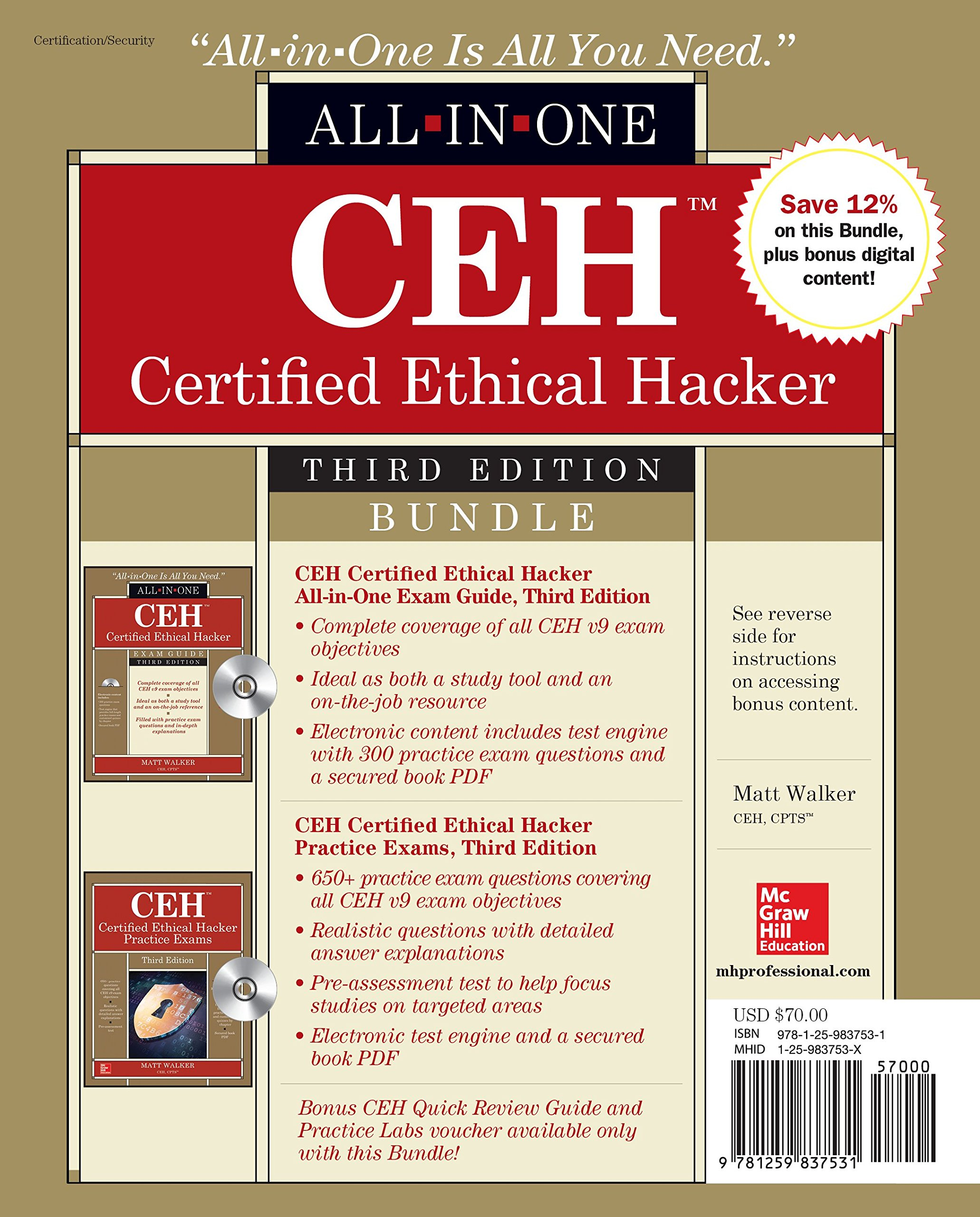 CEH Certified Ethical Hacker Bundle, Third Edition (All-in
